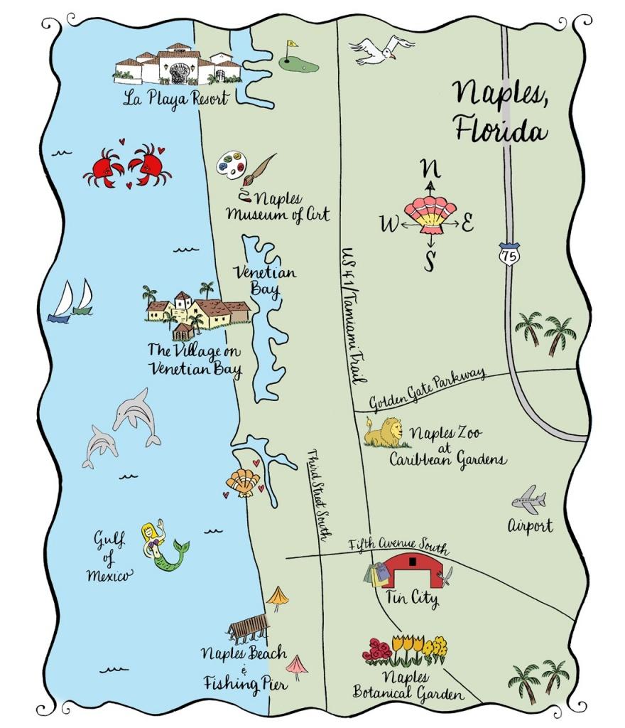 Naples Fl Map | Ageorgio - Naples On A Map Of Florida