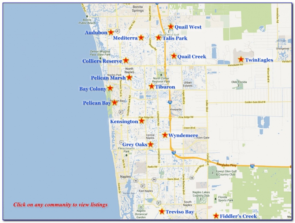 Naples Florida Real Estate Map - Maps : Resume Examples #3Op63Ormwr - Naples In Florida Map