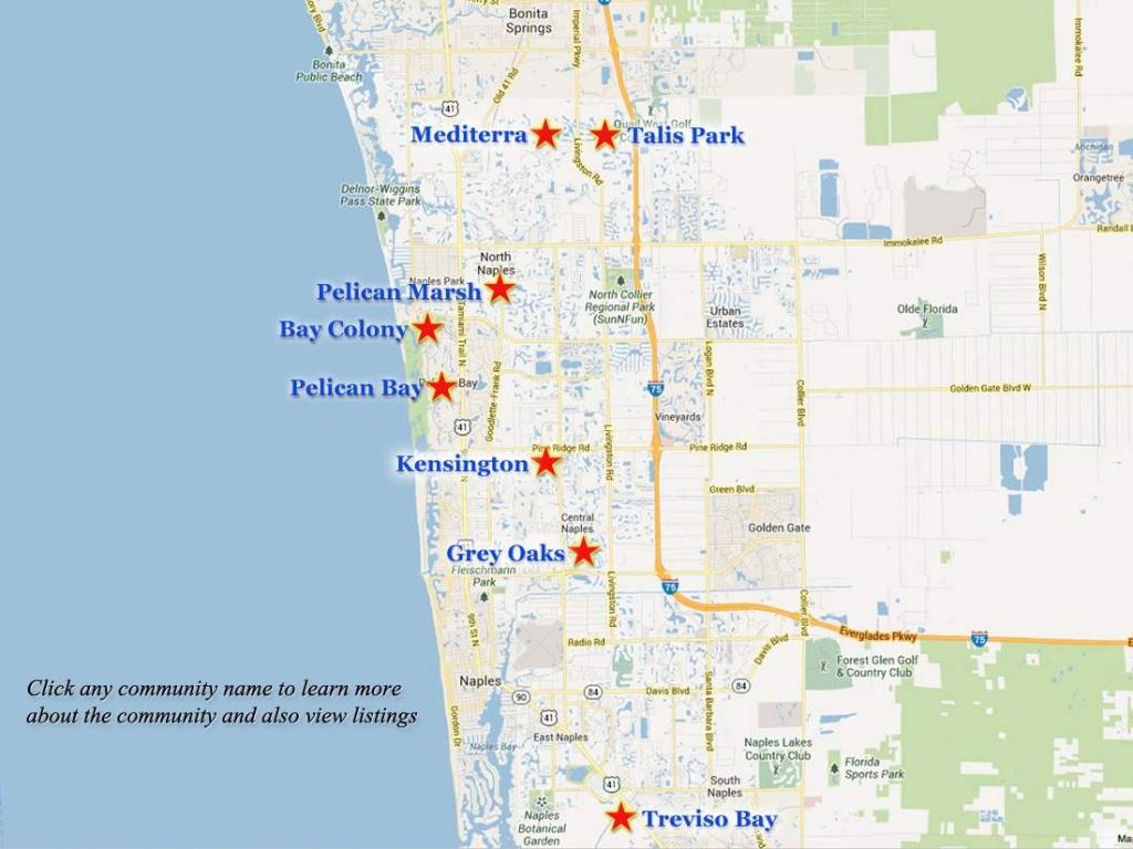 Naples-Golf-Communities-Map - Naples Florida Beaches Map