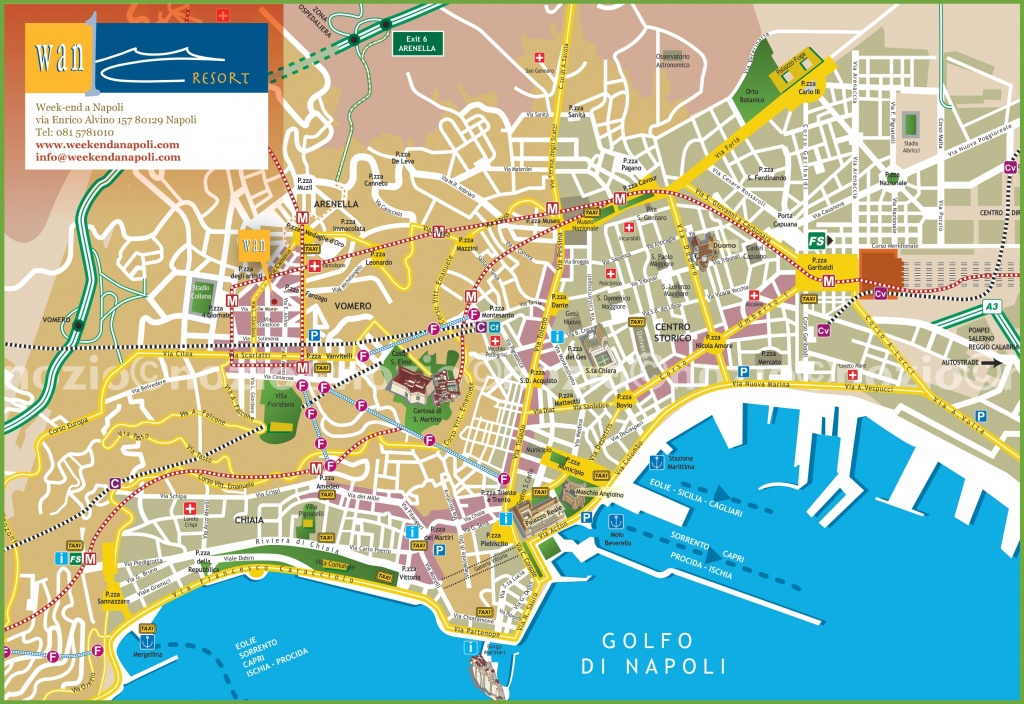 Naples Tourist City Centre Map - Printable Street Map Of Naples Florida