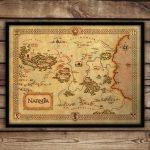 Narnia Map   Narnia Art Print   C S Lewis Fantasy Map   'narnia Poster    Chronicles Of Narnia Nursery Decor   Wall Art   Printable Map Of Narnia