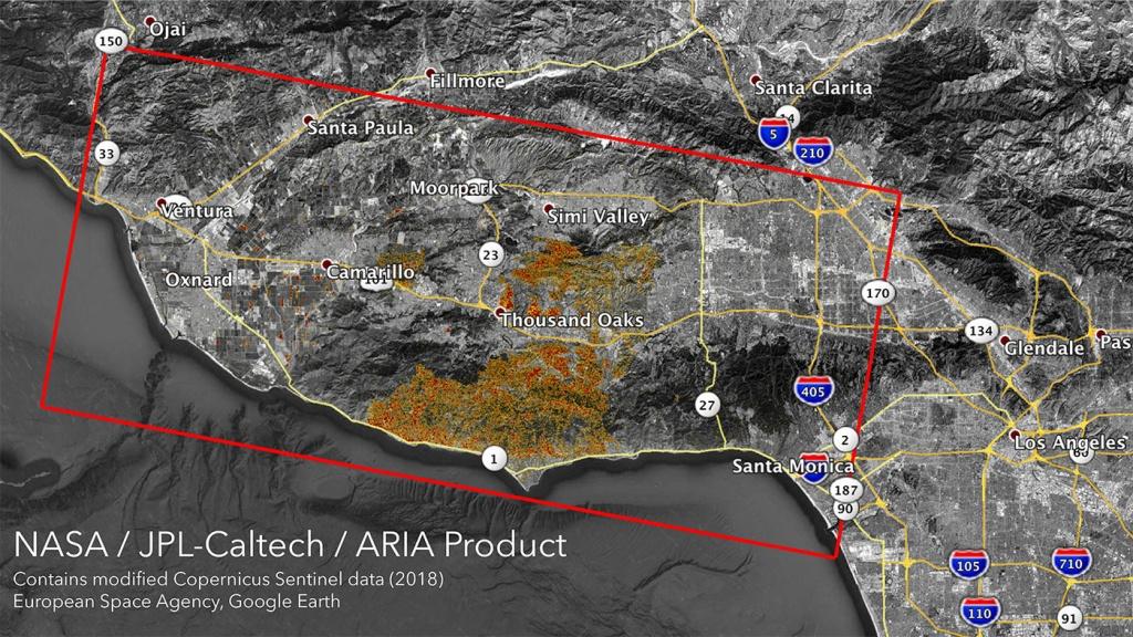 Nasa Satellites Map California Wildfires From Space - California Map Satellite