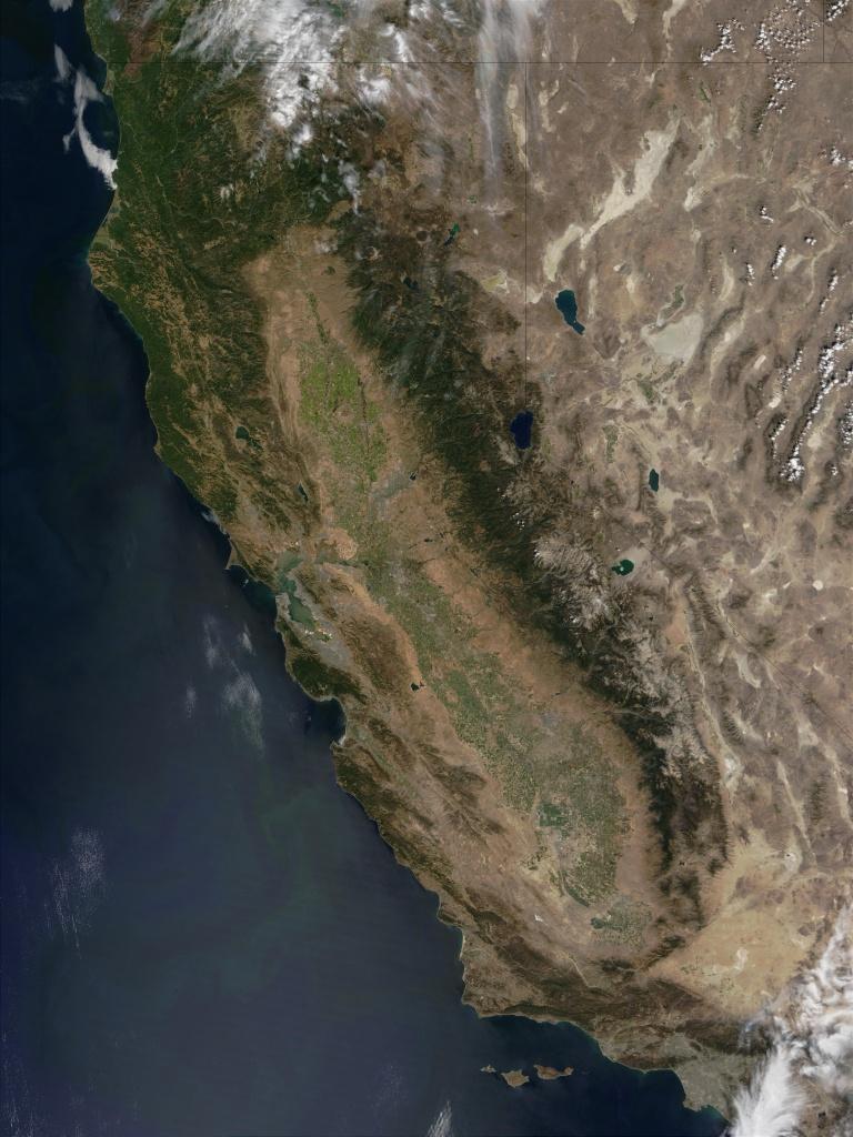 Nasa Visible Earth: California - California Map Satellite