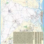 Nassau County, Fl Wall Map – Kappa Map Group - Yulee Florida Map