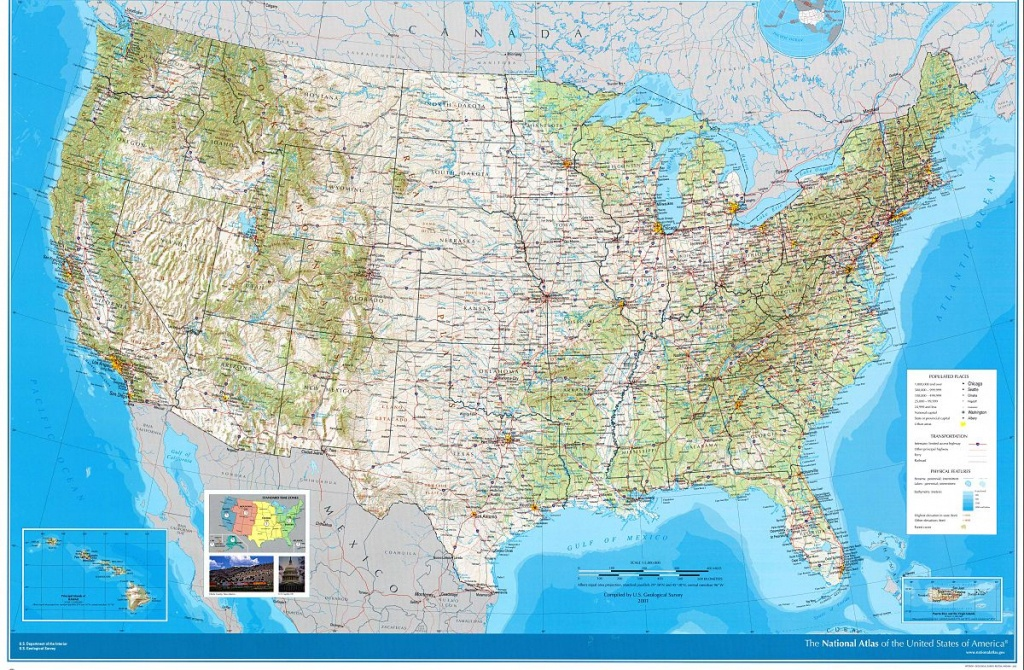 National Atlas Of The United States - Wikipedia - Printable Topographic Map Of The United States