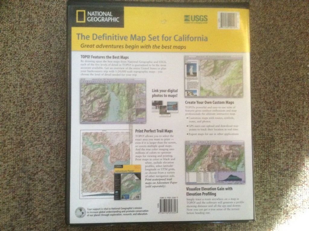 National Geographic California 2700 Seamless Usgs Topographic Maps - National Geographic Topo Maps California