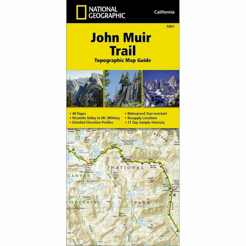 National Geographic John Muir Trail - Trails Illus Topo Map - #1001 - National Geographic Topo Maps California