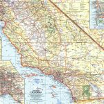 National Geographic Southern California Map 1966   Maps   California Atlas Map