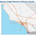 National Highway Freight Network Map And Tables For California   California Train Map