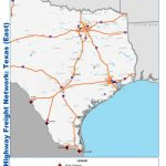 National Highway Freight Network Map And Tables For Texas   Fhwa   Map Of I 40 In Texas