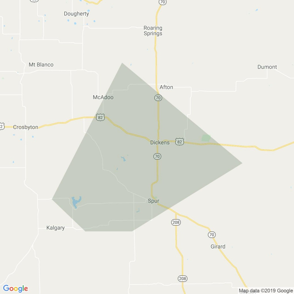 National Weather Service Has Issued A Tornado Warning For Dickens - Crosby Texas Map