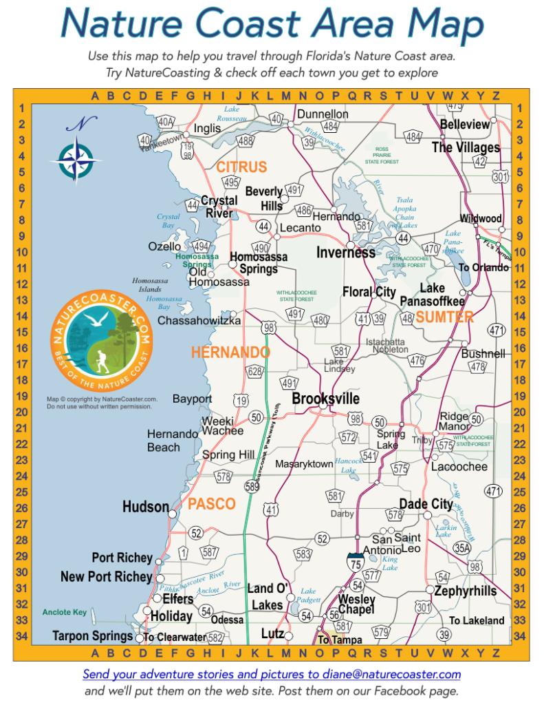 Nature Coast Area Map : Naturecoaster - Map Of Hernando County Florida