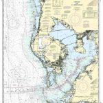 Nautical Map Of Tampa | Tampa Bay And St. Joseph Sound Nautical Map   Ocean Depth Map Florida