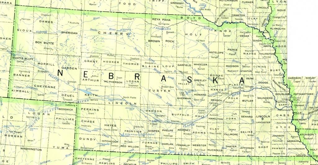 Nebraska Maps - Perry-Castañeda Map Collection - Ut Library Online - Printable Map Of Nebraska