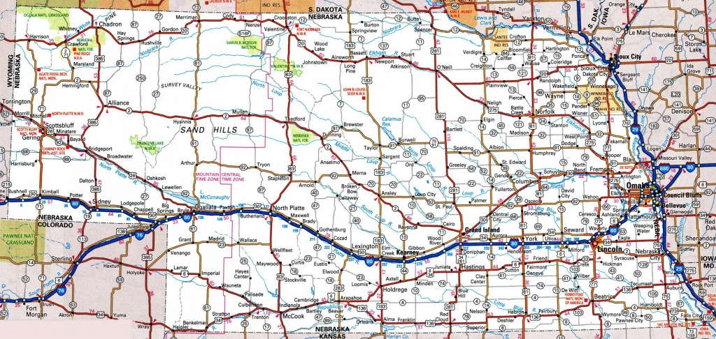 Nebraska Road Map - Free Printable State Road Maps