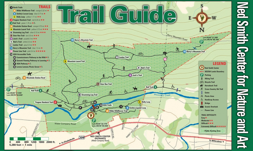 Ned Smith Center Lands And Trails   Ned Smith Center For Nature And Art - Printable Trail Maps