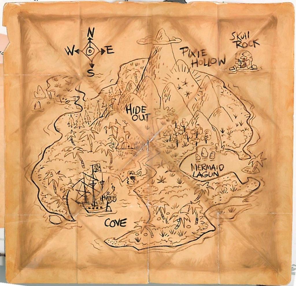 Never Land En 2019 | Brownies | Neverland Map, Neverland Y Pixie - Printable Neverland Map