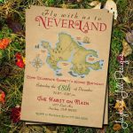 Neverland Birthday Party Invitation / Peter Pan Party / | Etsy - Printable Neverland Map
