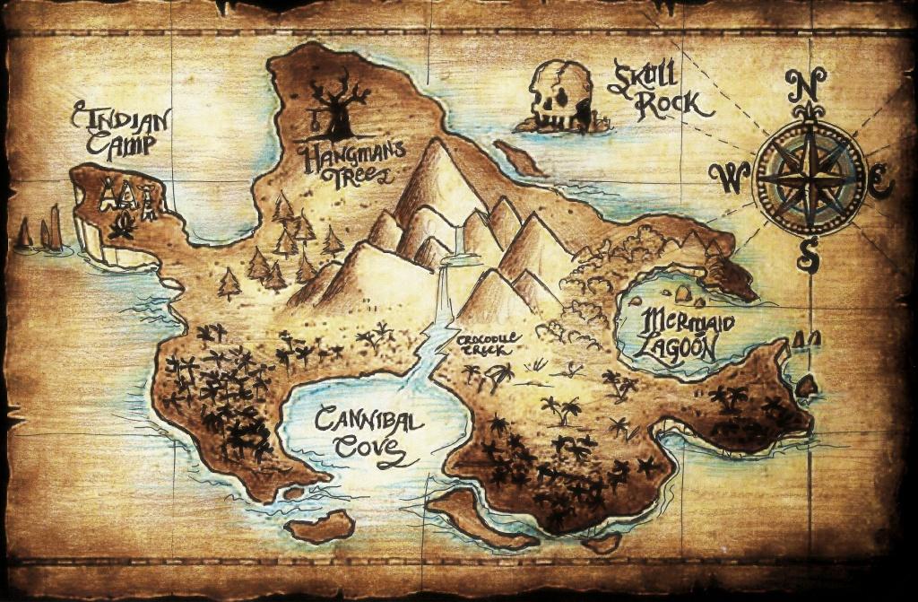 Neverland **letismallord.deviantart On @deviantart - Neverland Map Printable