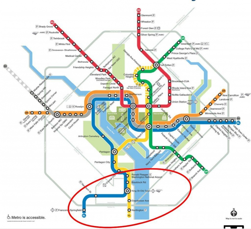 New Alternatives In Works For Metro's Blue, Yellow Line Summer - Printable Washington Dc Metro Map