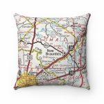 New Braunfels Texas Vintage Map Pillow New Braunfels Pillow   Etsy   Texas Map Pillow