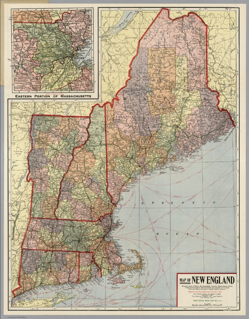 New England - David Rumsey Historical Map Collection - Printable Map Of New England States