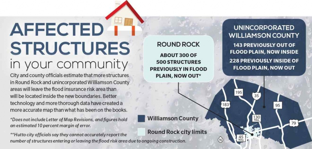 New Flood Insurance Map To Affect Hundreds | Community Impact Newspaper - Round Rock Texas Flood Map