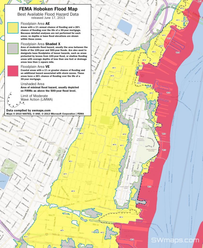 New Hoboken Flood Map: Fema Best Available Flood Hazard Data - 100 Year Flood Map Florida