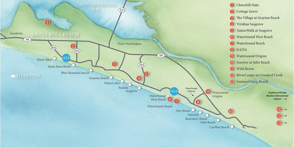 New Homes Division | Florida Real Estate :: Beach Properties Of Florida - Sea Crest Florida Map
