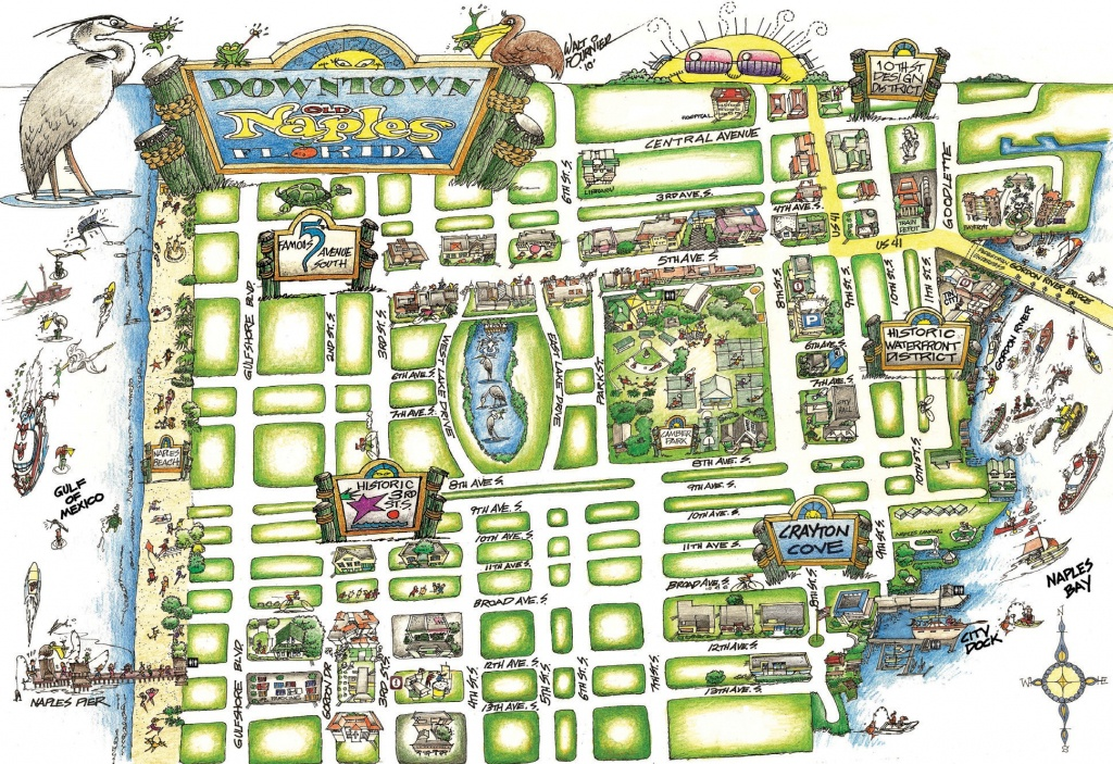 New Map Points The Way For Walking Around Naples | Naples Florida Weekly - Naples In Florida Map