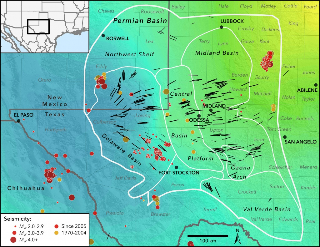 New Map Profiles Induced Earthquake Risk | Stanford News - Fracking In Texas Map