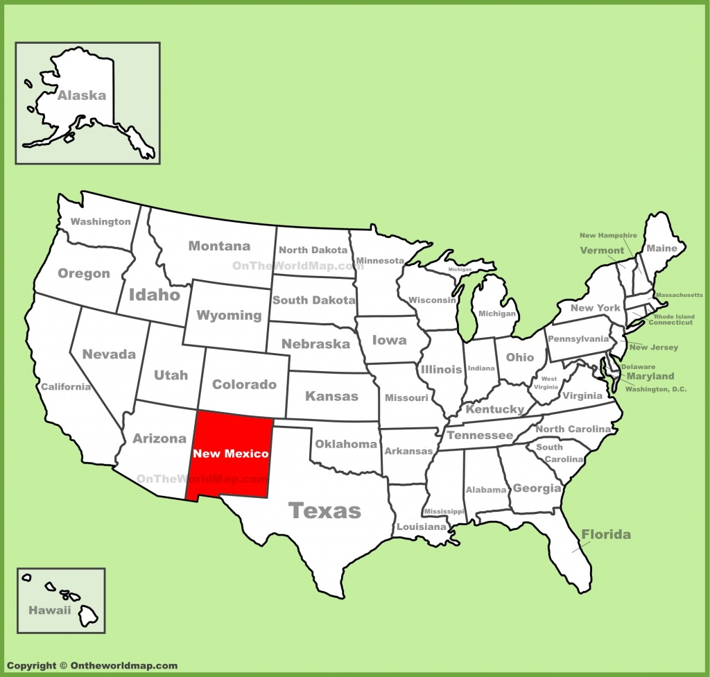 New Mexico State Maps   Usa   Maps Of New Mexico (Nm) - Map Of New Mexico And Texas