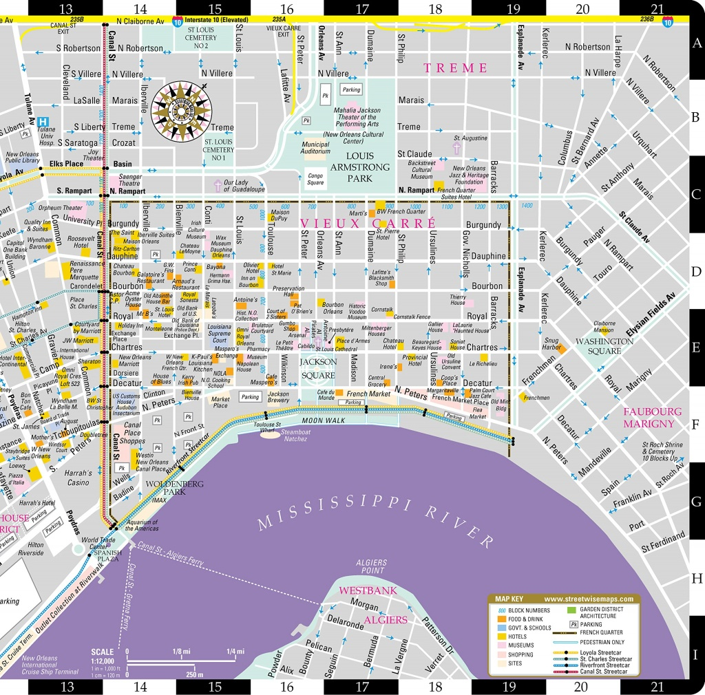 New Orleans Map French Quarter And Travel Information | Download - Printable French Quarter Map