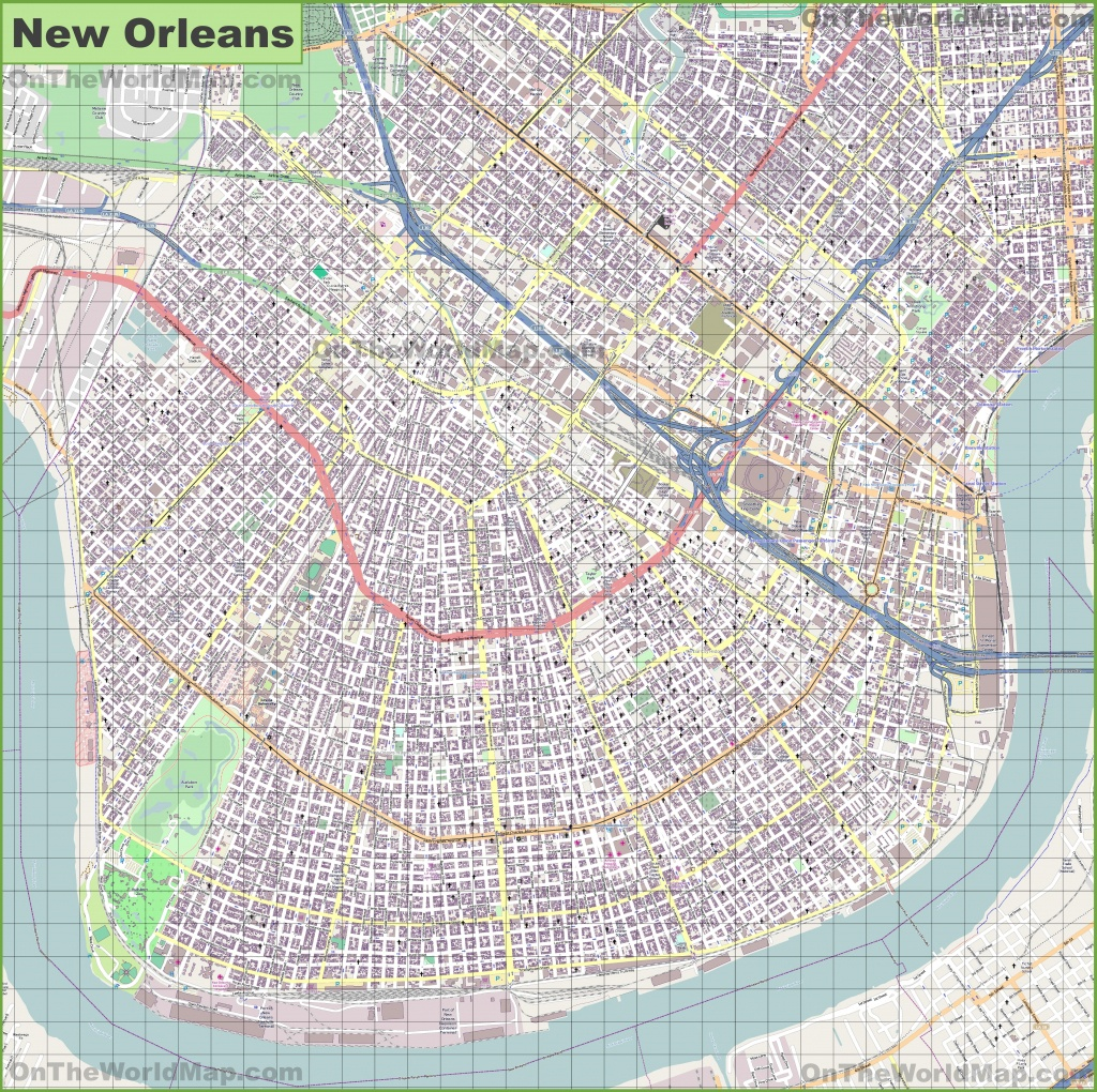 New Orleans Maps | Louisiana, U.s. | Maps Of New Orleans - New Orleans Street Map Printable