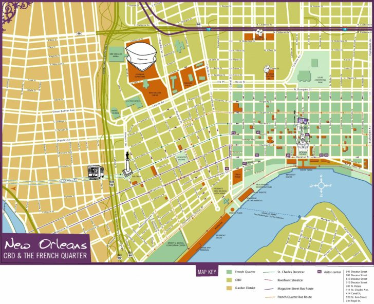 Printable Walking Map Of New Orleans