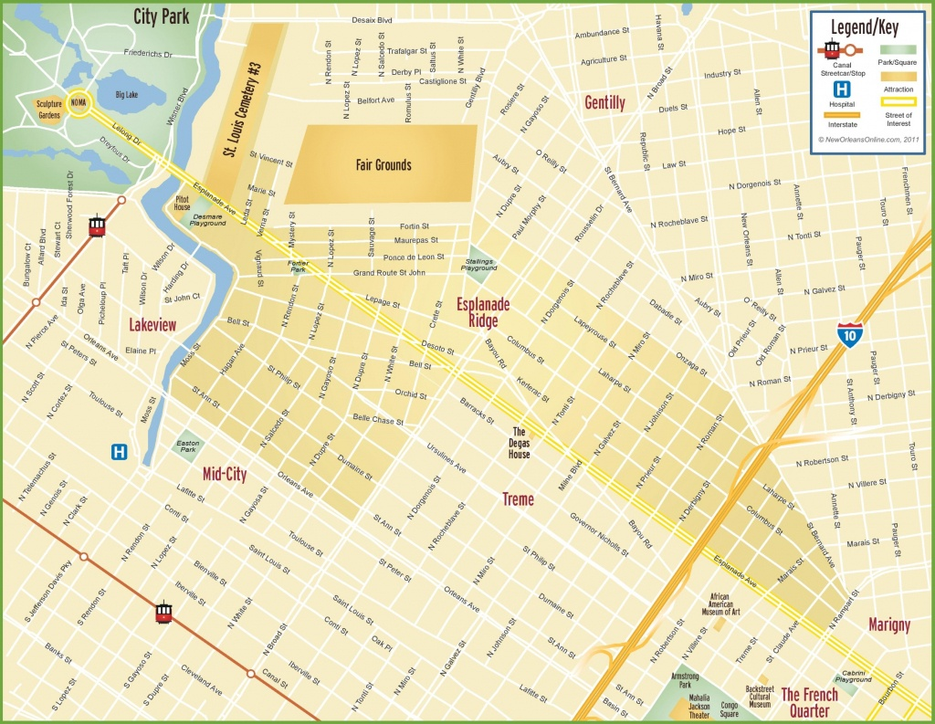 New Orleans Maps | Louisiana, U.s. | Maps Of New Orleans - Us Quarter Map Printable