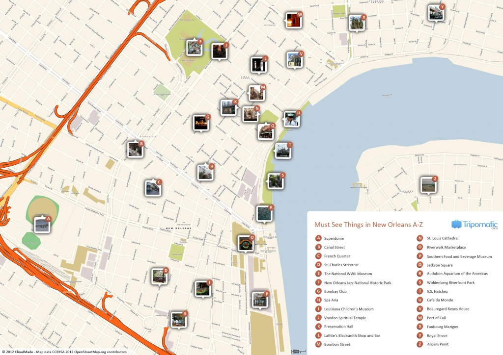 New Orleans Printable Tourist Map | Free Tourist Maps ✈ | New - Printable Local Street Maps