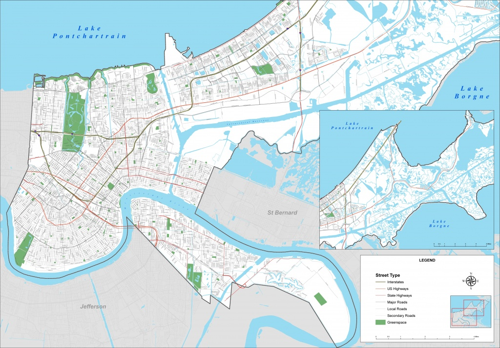 New Orleans Street Map - New Orleans Street Map Printable