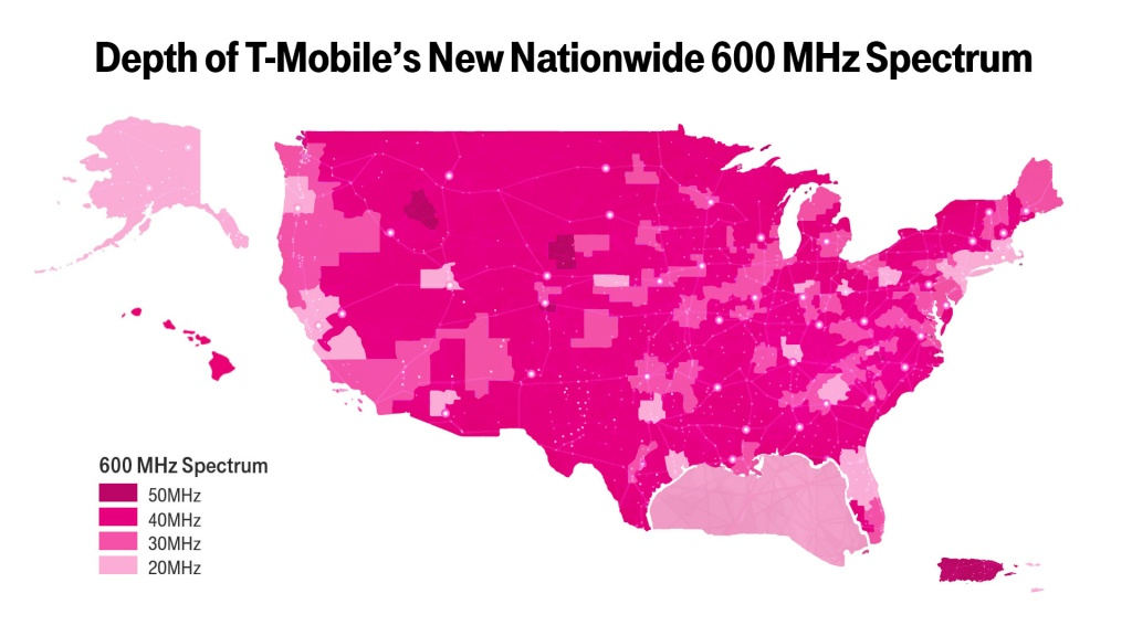 New T-Mobile Upgrade May Boost Your Coverage—If You Have The Right - T Mobile Coverage Map In California