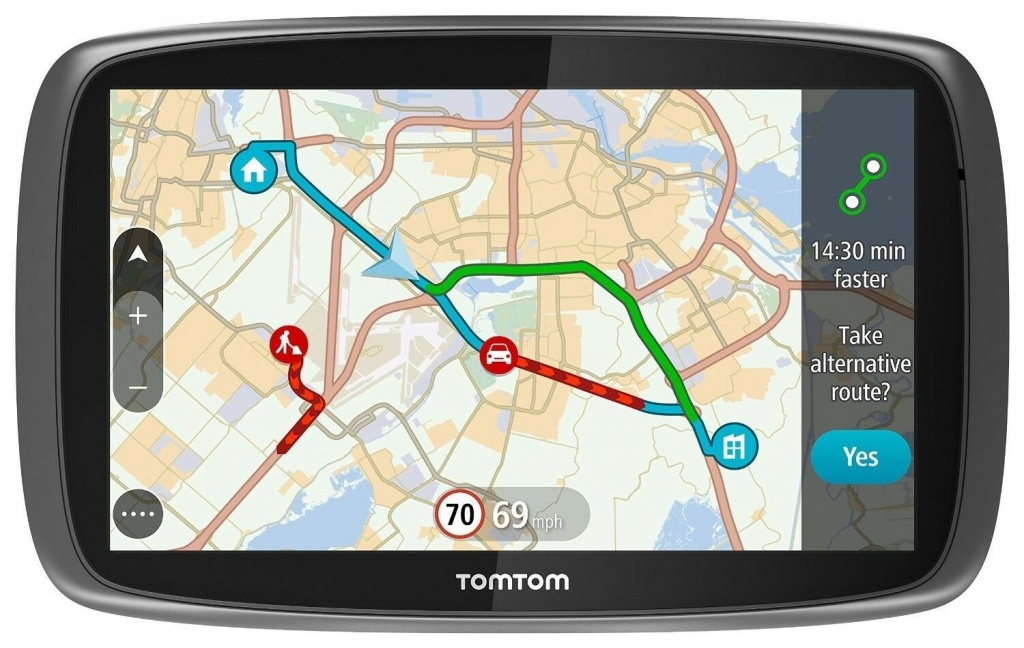 "New Tomtom Go 510 5"" Gps Sat Nav System World Maps Traffic Free - Sat Nav With Florida Maps"