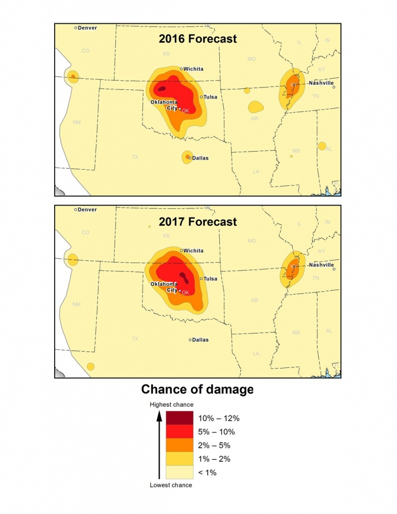 New Usgs Maps Identify Potential Ground-Shaking Hazards In 2017 - Usgs Earthquake Map Texas