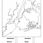 New York City Boroughs Coloring Activity For Kids   Map Of The 5 Boroughs Printable