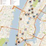 New York City Manhattan Printable Tourist Map | New York En Famille   Nyc Walking Map Printable