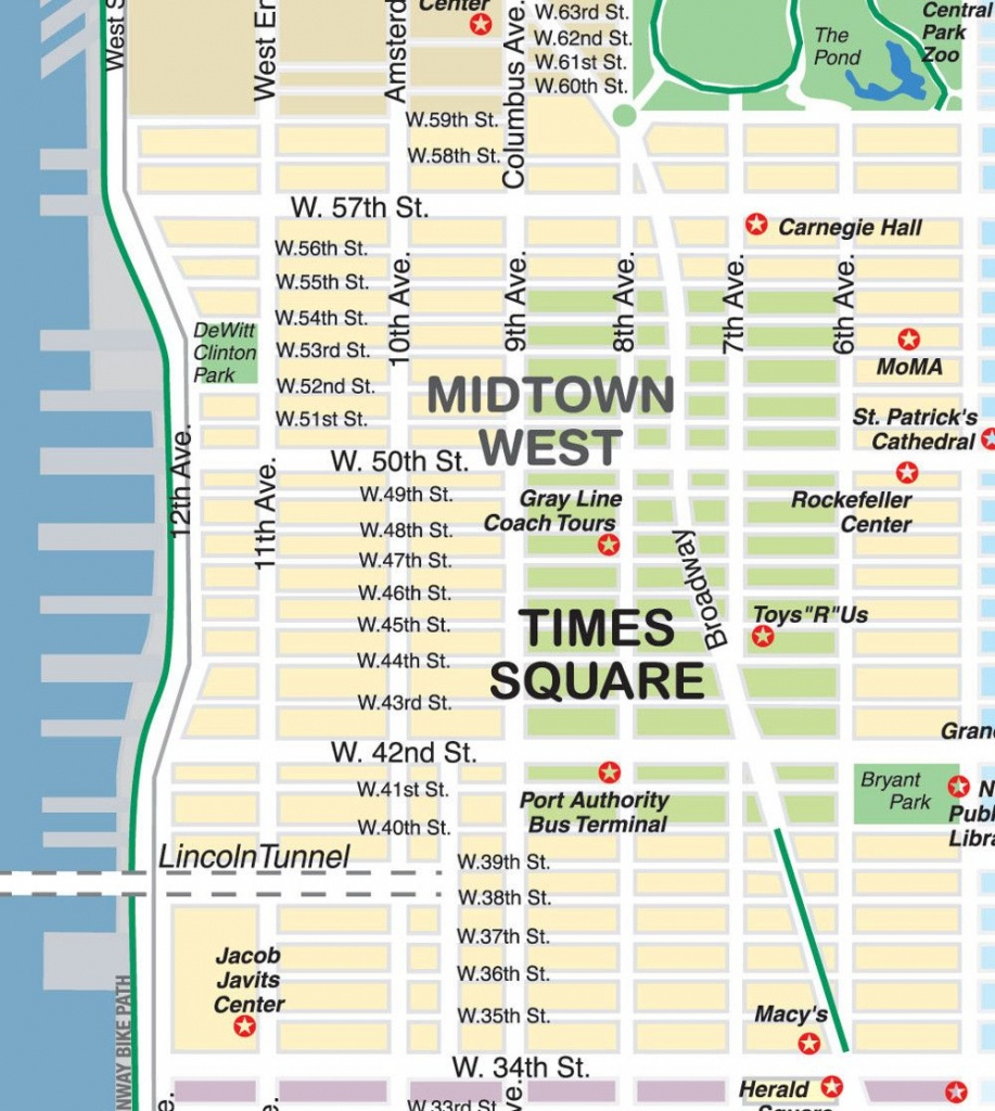 New York City Maps And Neighborhood Guide - Printable Map Of Times Square