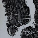New York City Street Map Print Charcoal - York Street Map Printable