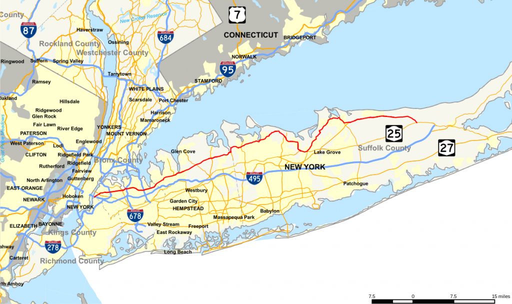 New York State Route 25A - Wikipedia - Printable Map Of Long Island Ny