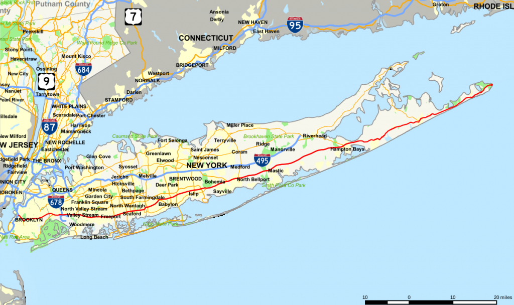 New York State Route 27 - Wikipedia - Printable Map Of Long Island Ny