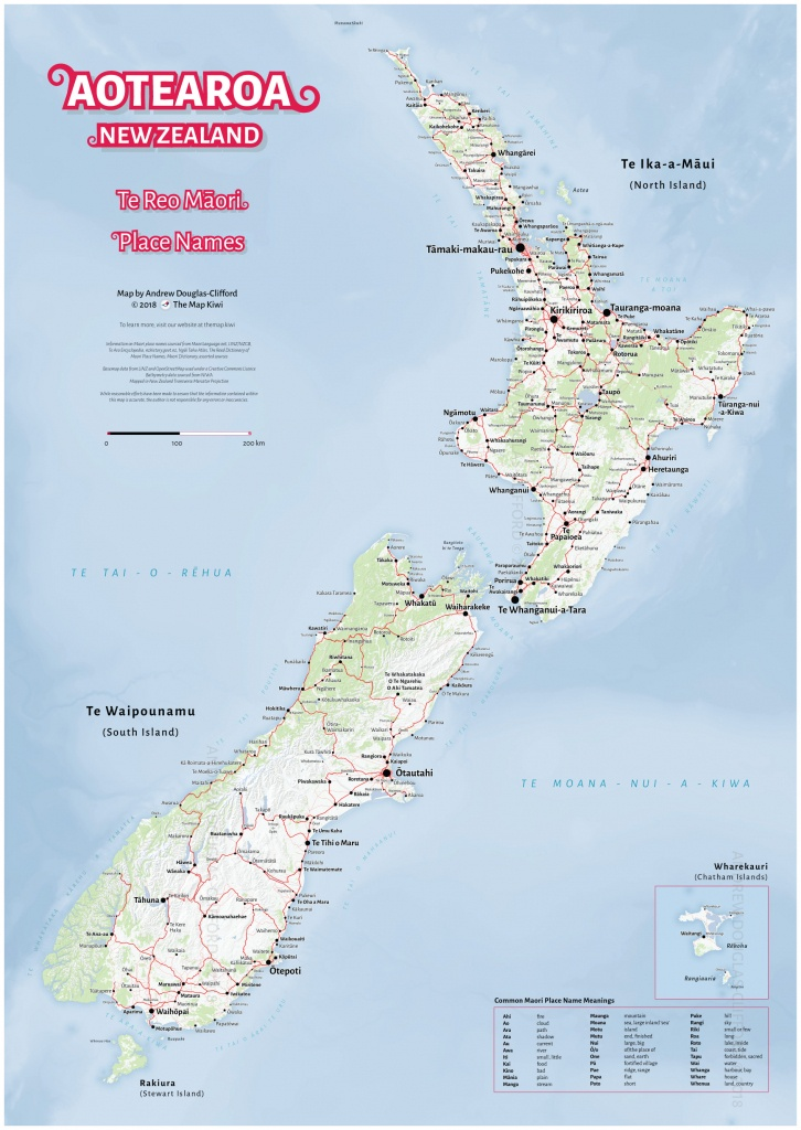 New Zealand Wall Maps Including North And South Island Maps - New Zealand North Island Map Printable