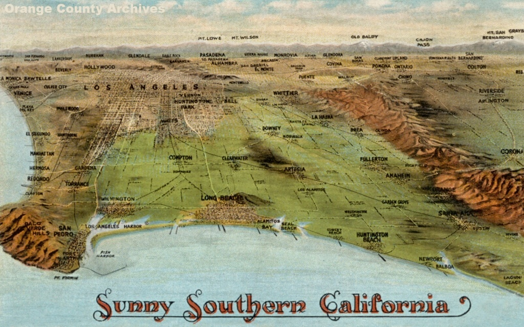 Newport Beach Historical Society | Aerials Maps & Miscellaneous - Historical Maps Of Southern California