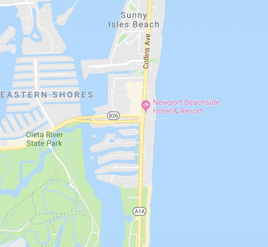 Newport Beachside Hotel & Resort | Sunny Isles, Florida - Sunny Isles Florida Map